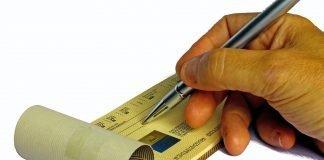 Pagamento assegno a persona diversa