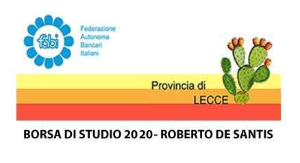 Borsa di Studio 2020 Roberto De Santis